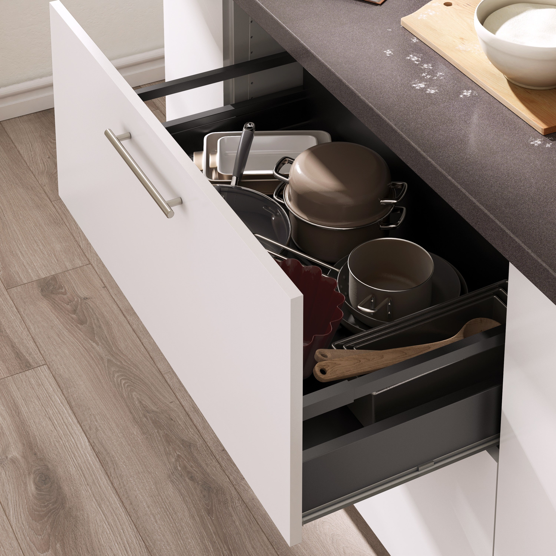 un grand tiroir pour ranger les casseroles  leroy merlin